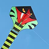 Kite For Kids,15m Cobra Snake Kite Esay to Fly Outdoor Fun Sports Kites for Adults