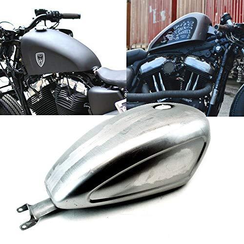 TTX-LIGHTING 3.3 Gallon Indented EFI Gas Tank Custom Fuel Tank for Harley Sportster 883 XL 1200 Bobber Chopper 2007-2019