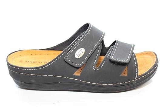 Marco Tozzi da Donna Eleganti Nero con Tacco in Pelle Cuneo Base Letto e  Chiusura in Velcro, a Forma di Scarpa Dimensioni: 39 EUR: Amazon.it: Scarpe  e borse