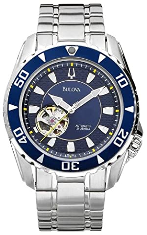 Bulova Men's 98A104 Marine Star Automatic Stainless Steel Bracelet Watch