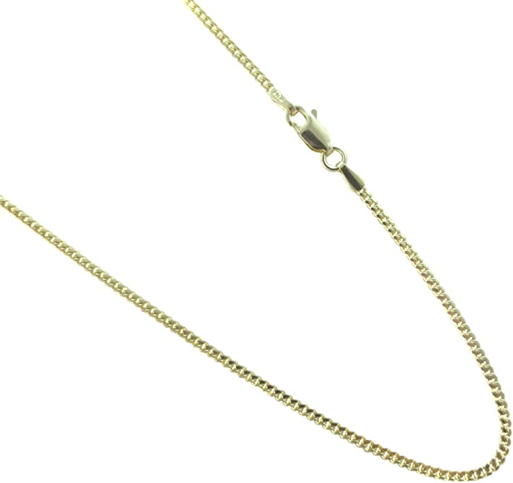 Kooljewelry Sterling Silver 5.4 mm Flat Curb Chain Necklace 14, 16, 18, 20, 22, 24, 30 or 36 inch