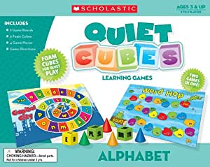 Scholastic TF7500 Alphabet Quiet Cubes Learning Games
