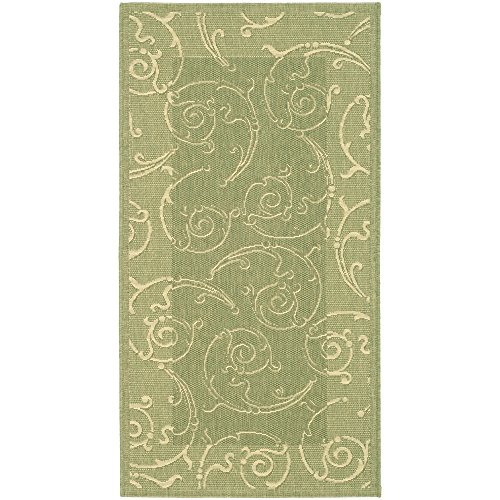 Safavieh Courtyard Collection CY2665-1E06 Olive and Natural Indoor/ Outdoor Area Rug (2' x 3'7