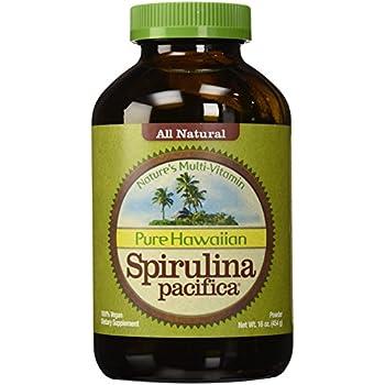 Nutrex Hawaii Hawaiian Spirulina Pacifica Powder, 16-Ounce Bottle, Pack of 2
