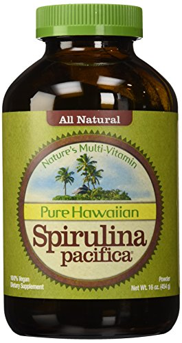 Nutrex Hawaii Hawaiian Spirulina Pacifica Powder, 16-Ounce Bottle, Pack of 2