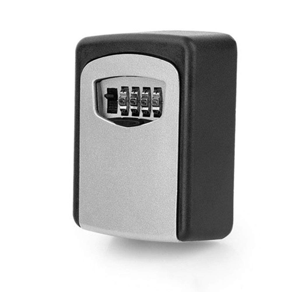 PEIQI Lock Box Key Storage Realtor Portable Key Safe Wall Mounted Lock Box, Resettable Code