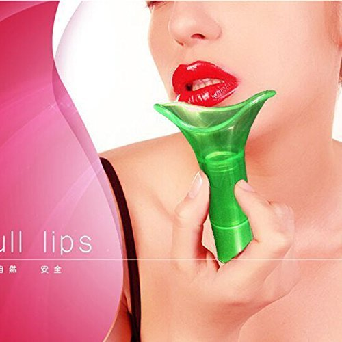 lip plumper pumps for sexy lips device enhancer pump lovely full universal size (Green)