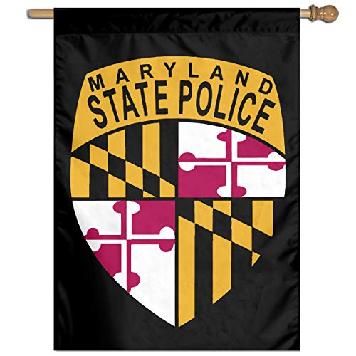 TYZBAOOSDUP Maryland State Police House Flag Decorative Garden Flag Yard Banner Garden Flags 27x37 -