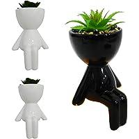 Vaso Decorativo Bob Plant Sentado Para Suculentas Cachepot (BRANCO)