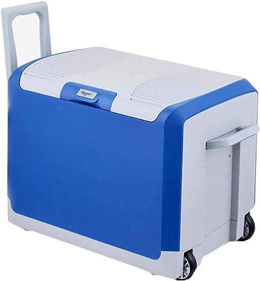 amazon com 40 liter car refrigerator can hold 24 bottles of 550ml mineral water portable mini car home dual use pull rod freezer fridge blue black blue 12v 220v appliances amazon com