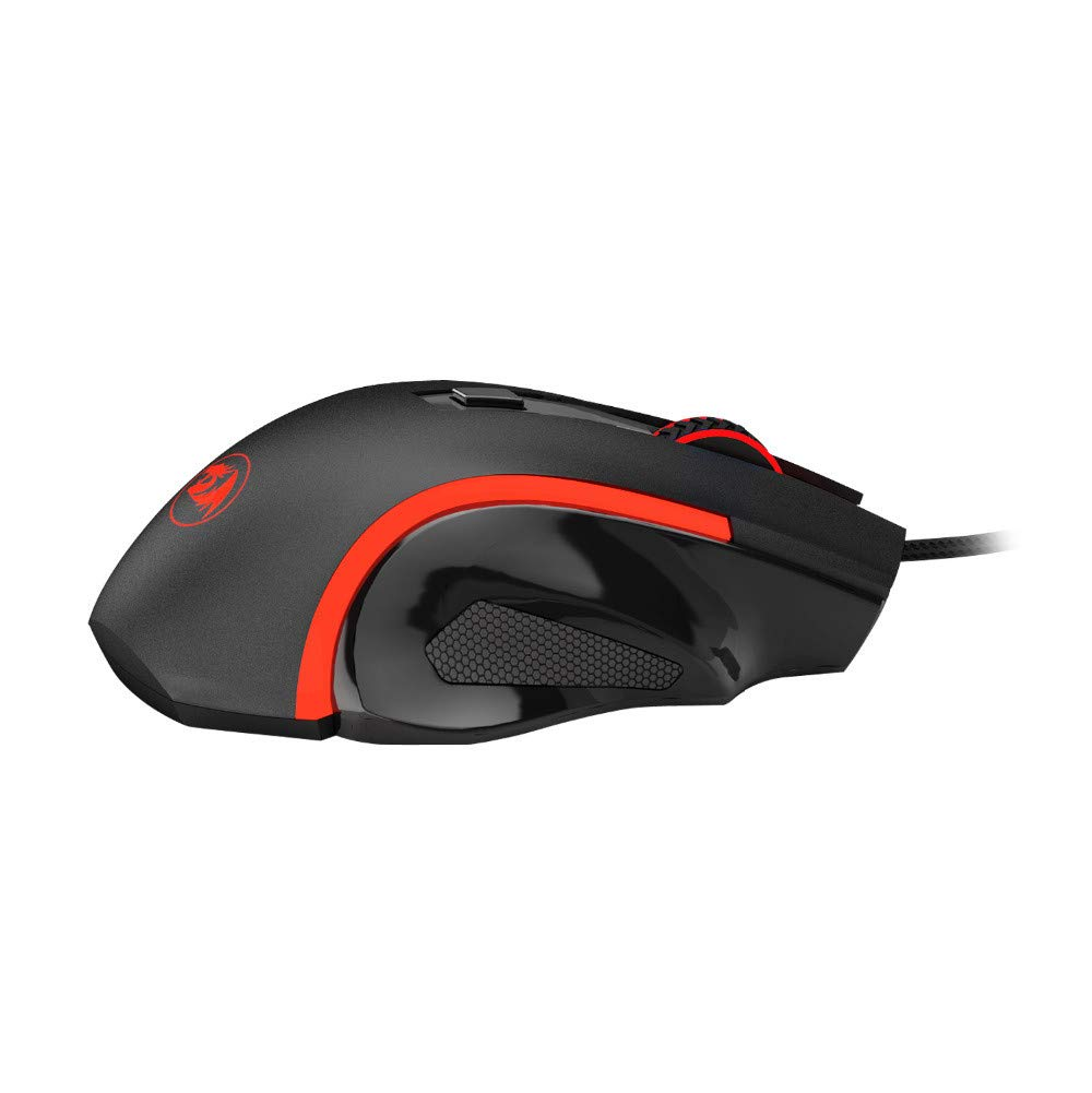 AcisuHu Gaming USB Wired Mouse Ergonomic Design 6 Buttons Up to 3200DPI Desktop Computer Accessories Mice,Black-Red