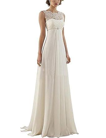 info for a8350 d84c1 Cloverbridal Reich Chiffon Spitze mit Langen Hochzeitskleid Strand  Brautkleider