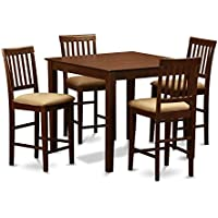 East West Furniture VERN5-MAH-C 5-Piece Gathering Table Set