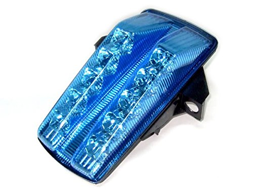 - Motocycle LED Integrated Rear Running Tail Stop Brake Light Super Bright Tail Light Fit For Suzuki 03-2007 SV1000 03-08 SV650 Chrome Blue