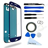 SAMSUNG GALAXY S3 i9300 I747 T999 I535 BLUE DISPLAY TOUCHSCREEN REPLACEMENT KIT 12 PIECES INCLUDING 1 REPLACEMENT FRONT GLASS FOR SAMSUNG GALAXY S3 / 1 PAIR OF TWEEZERS / 1 ROLL OF 2MM ADHESIVE TAPE / 1 TOOL KIT / 1 MICROFIBER CLEANING CLOTH / WIRE