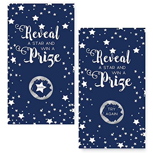 Paper Clever Party Navy Blue Star Scratch Off Party Game Cards Set of 28 -