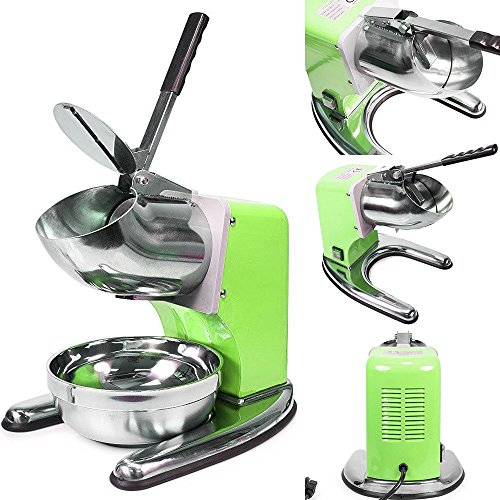WYZworks Green Commercial Ice Shaver Dual Blade 143lb/h Crusher Shaved Icee Maker Machine by WYZworks (Image #4)