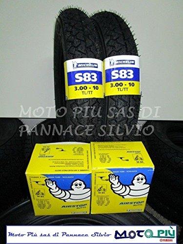 COPPIA GOMME COPERTONI MICHELIN S83 3.00-10 +CAMERE D'ARIA VESPA PK 50 125 XL HP Michelin_Italia
