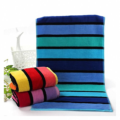 DueWork Hand Towels Kitchen Dish Cloth for Bathroom & Kitchen - Stripe Color Block Drying & Cleaning WashCloth Set of 3 Color Dishcloth Sets