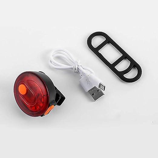 Luz trasera LED recargable por USB, brillante linterna de ...