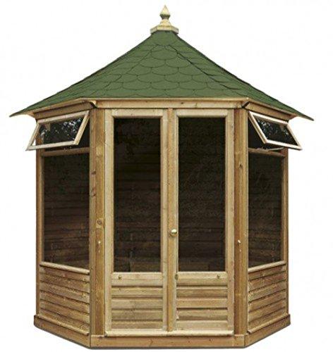 Gartenhaus Klein g c sechseckiges gartenhaus aus holz mit doppeltür und