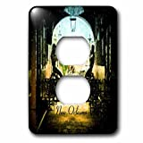 3dRose lsp_205216_6 Print of Painted French Quarter Restaurant 2 Plug Outlet Cover