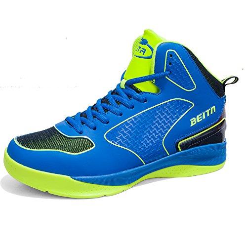 Mans Haut Top Sneakers Respirant Sport Chaussures Basket Chaussure Bleu