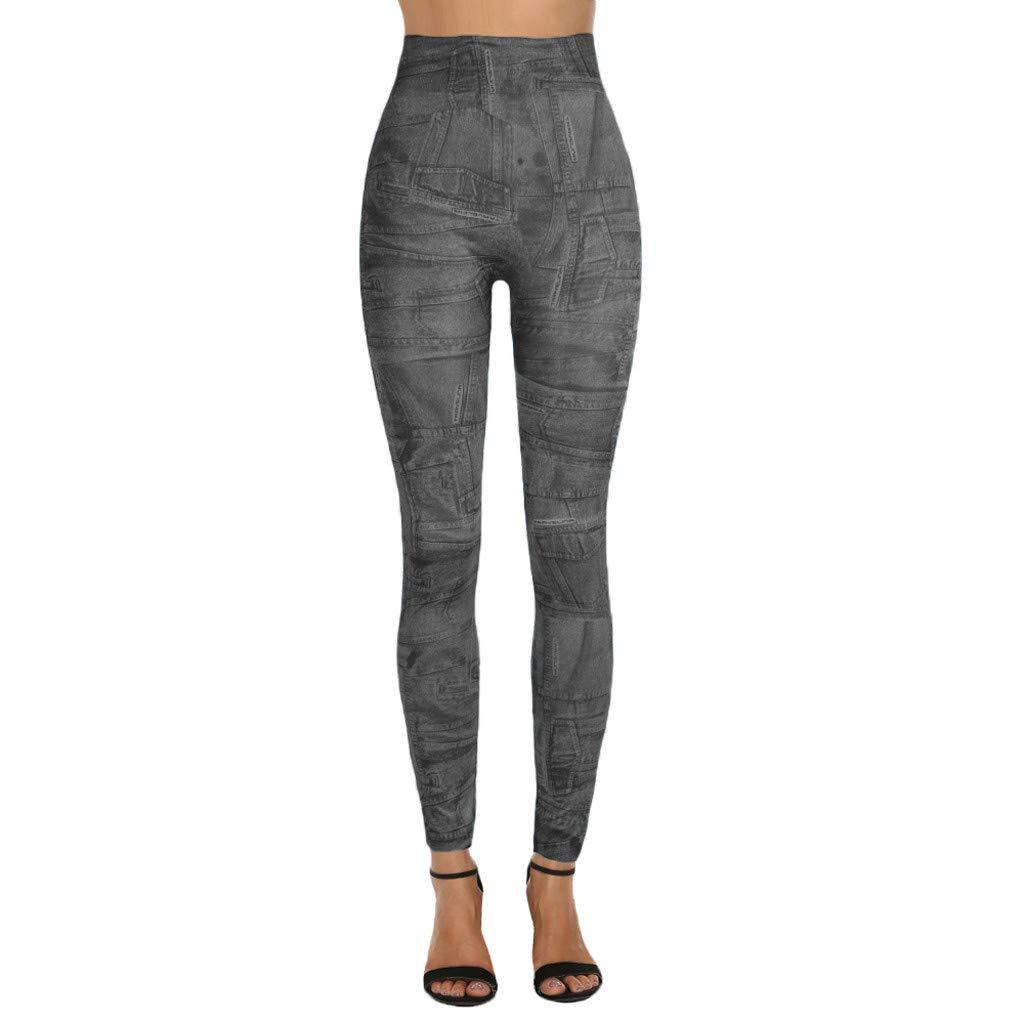 Amazon.com: YKARITIANNA 2019 Ladiesprinted Jeans Bottoms ...