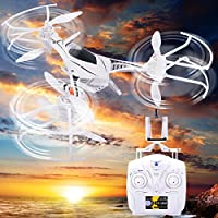 New MTN-G 2.4G 4CH 6-axis Gyro RC WIFI FPV Quadcopter W/ LED Light &HD Camera White