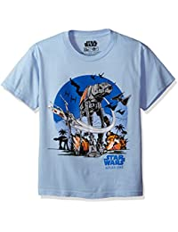 Big Boys' At-At Battle Scene Rogue One T-Shirt