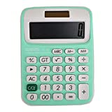Sherry Calculator Electronic Calculator Large LCD Display Calculator Office Home School Desktop Calculator (Light Green)