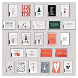 25 handgemachte Weihnachtskarten: Hochwertiges Weihnachtskarten Postkarten Set mit Detailverliebten und Hand designten hochwertigen Postkarten mit Sprüchen und Zitaten