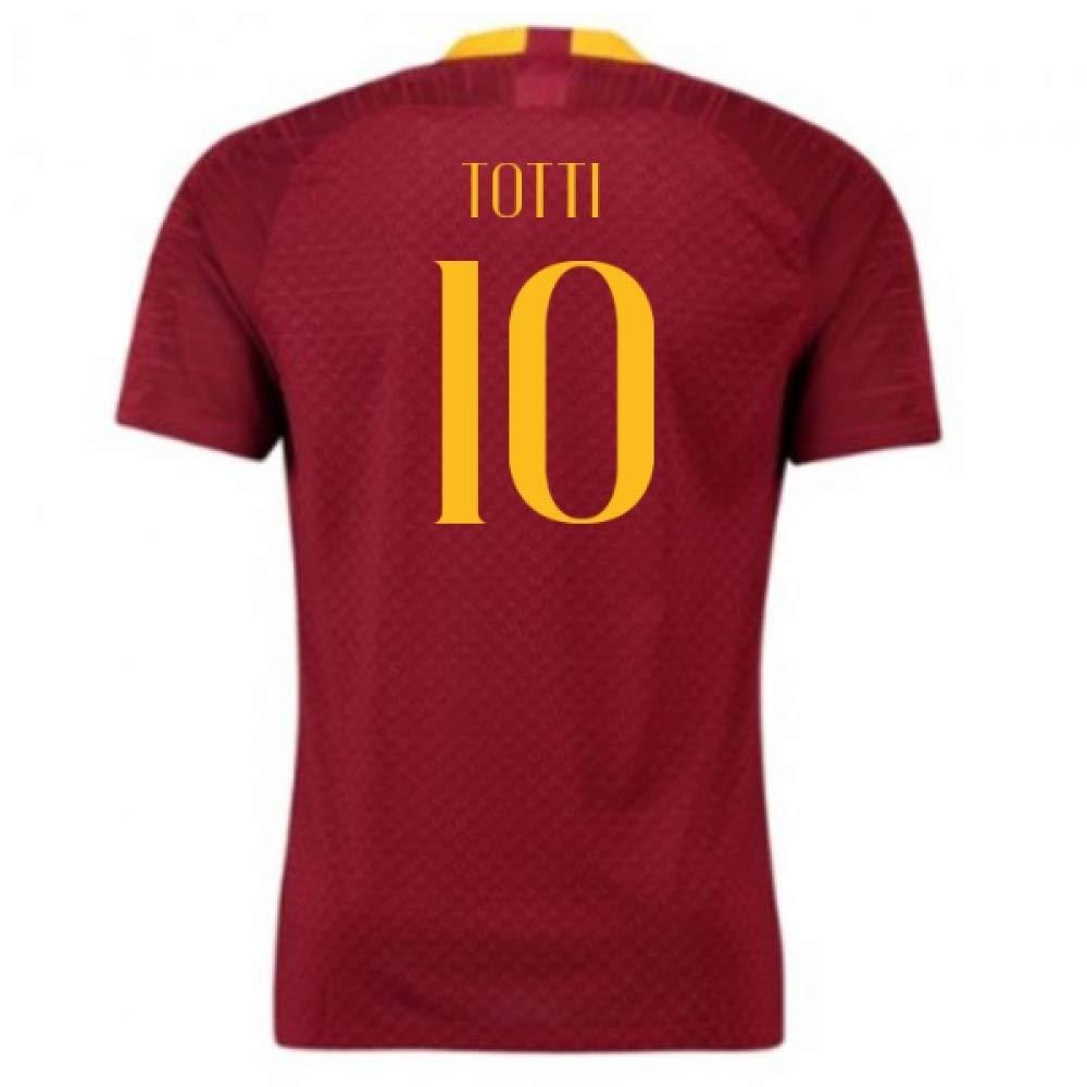 【受注生産品】 2018-2019 AS Roma Totti Home Nike Football Shirt Chest (Francesco Totti (112-124cm) 10) B07H9RWCXT XL 46-48
