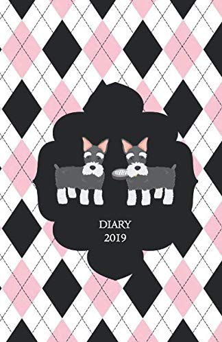 Diary-2019-Mini-Schnauzer-Monthly-and-Weekly-Planner-2019-also-Dec-2018-with-yearly-overviews-monthly-calendars-and-weekly-2-page-horizontal-layout-notes-lists-Monday-start-week