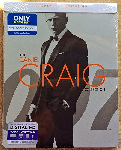Daniel Craig 007 James Bond Blu-ray STEELBOOK Collection Edition (Casino Royale, Quantum of Solace and Skyfall)