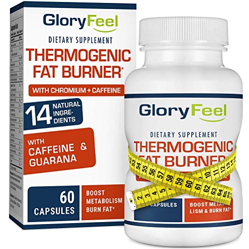 Gloryfeel Thermogenic Fat Burner - Weight Loss Supplement, Appetite Suppressant, Energy Booster - Weight Loss Pills, Weight Loss for Women & Men - 60 Capsules (For & Men Pills Weight Women)
