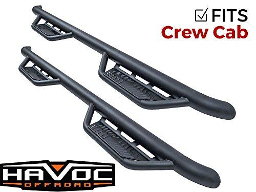 Havoc Offroad HPG-001203 HS2 Black Hoop Nerf Bar Truck Steps (Fits Only 2015-2018 Dodge Ram Crew Cab) ()