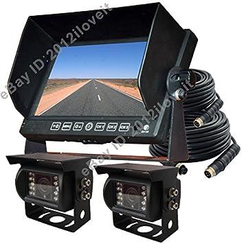 """7 """"copia de seguridad inverso marcha atrás sistema de cámara de visión trasera para"""