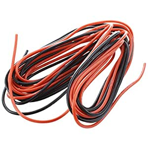 Sodial R 2x 3m 20 Gauge Awg Silicone Rubber Wire Cable