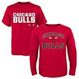 NBA Youth Boys 8-20 Bulls 2Piece Long & Short sleeve Tee Set, S(8), Assorted
