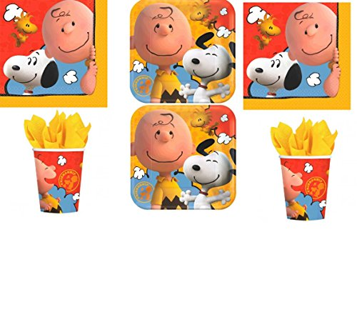 Peanuts, Charlie Brown Party Pack for 16 guests by Amscan (Snoopy Party Supplies compare prices)