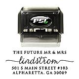 Personalized Return Address Stamp, Self Inking - Elegant Caligraphy Script, Black Ink