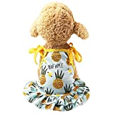 Karoleda_Pet Clothes for Dog Pet Couples Puppy Dog Prince Dress Lovely Pineapple/Strawberry Vest