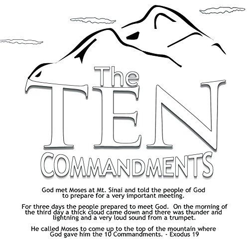 (10 Commandments Coloring Card for Kids 12/pk 30100)