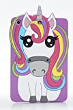iPad Mini Case,Phenix-Color 3D Cute Soft Silicone [Drop Proof,Shock Proof,Anti Slip] Cartoon Gel Rubber Back Cover Case for iPad Mini 1 2 3 (Rainbow Horse)