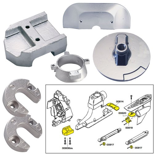 Tecnoseal Anode Kit w/Hardware - Mercury Alpha 1 Gen 2 - Magnesium (Mercury Alpha One)