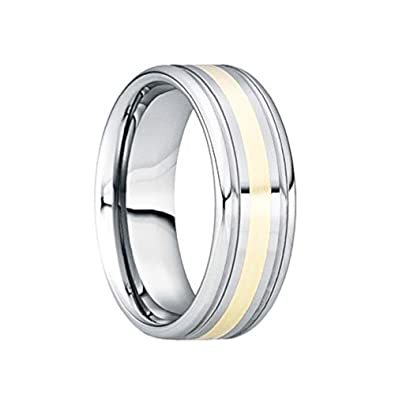 Bridal & Wedding Party Jewelry Glorious Stainless Steel Beveled Edge 6 Mm Polished Wedding Band Jewelry & Watches