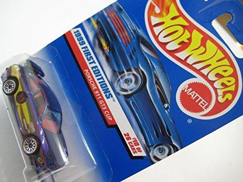 Hot Wheels 1999 First Editions Purple Porsche 911 GT3 996 Cup (Bradlie) 1:60 NIB