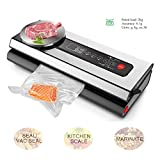 Vacuum Sealer and Digital Kitchen Scale with Premium LED Screen, Viotte Automatic Vacuum Air Sealing System for Food Preservation and Food Weight Measurement