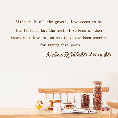 Nelson Rolihlahla Mandela Home Decor Inspiration Wall Sticker Quotes Removable Although in all the growth, love seems to bethe fastest, but the most slow, None of themknows what love is, - For Nerd What To Wear Day